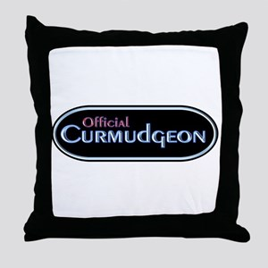 Official Curmudgeon Throw Pillow