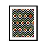 Abstract Triangles 09 Framed Panel Print