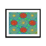 Abstract Flowers 09 Framed Panel Print