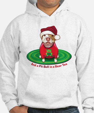 And a Pit Bull in a Bear Tee Jumper Hoody