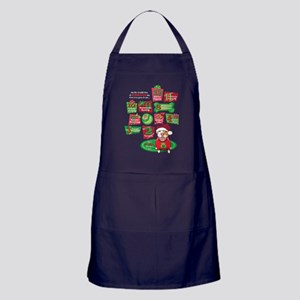 12 Dogs of Christmas Apron (dark)