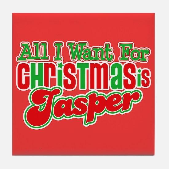 Christmas Jasper Tile Coaster