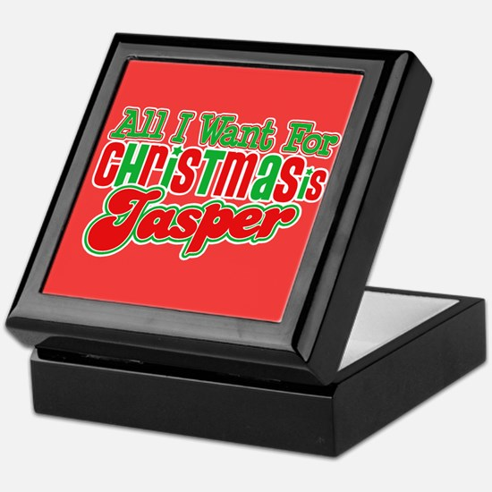 Christmas Jasper Keepsake Box
