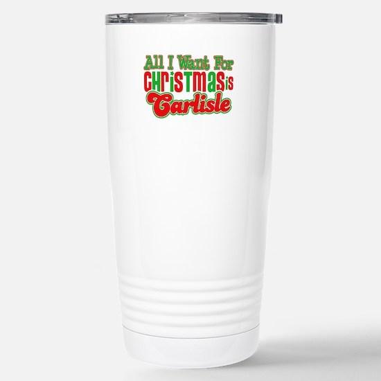 Carlisle Christmas Stainless Steel Travel Mug