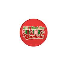 Carlisle Christmas Mini Button
