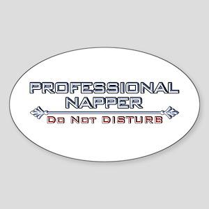 Professional Napper Oval Sticker