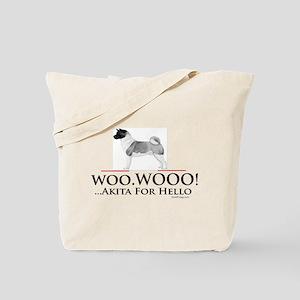 oddFrogg Akita Woo Hello Tote Bag