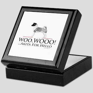 oddFrogg Akita Woo Hello Keepsake Box