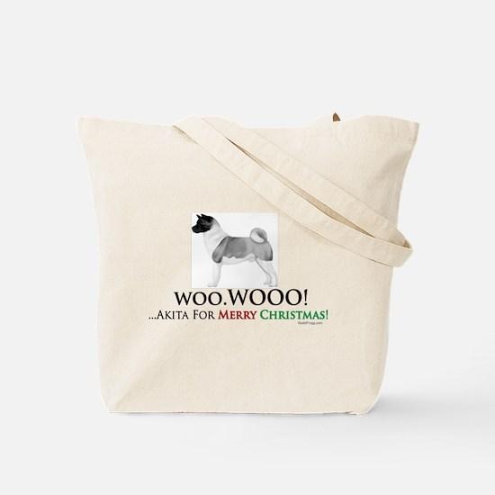 oddFrogg Akita Christmas Tote Bag