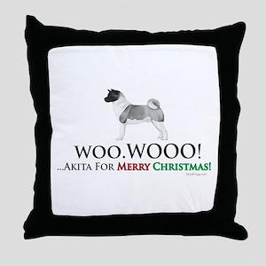 oddFrogg Akita Christmas Throw Pillow