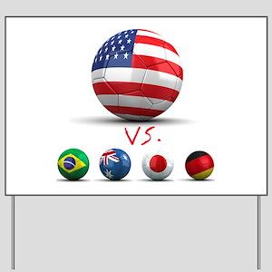 USA vs The World Yard Sign