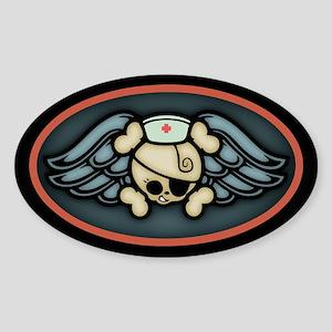 Dolly RN Wings III Oval Sticker