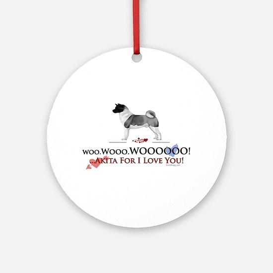 oddFrogg Akita Valentine Ornament (Round)