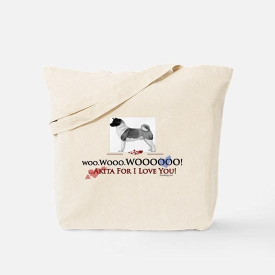 oddFrogg Akita Valentine Tote Bag