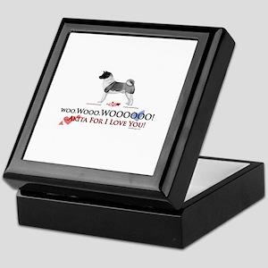 oddFrogg Akita Valentine Keepsake Box
