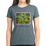 Maine Impasto Wildflowers Women's Dark T-Shirt
