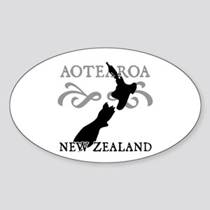 Aotearoa New Zealand Oval Sticker