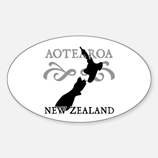 Aotearoa New Zealand Oval Decal
