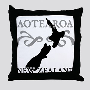Aotearoa New Zealand Throw Pillow