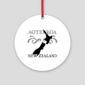 Aotearoa New Zealand Ornament (Round)