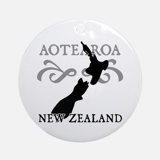 Aotearoa New Zealand Ornament (Round)