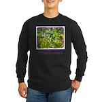 Maine Impasto Wildflowers Long Sleeve Dark T-Shirt