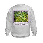Maine Impasto Wildflowers Kids Sweatshirt