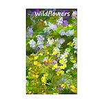 Maine Impasto Wildflowers Sticker (Rectangle)