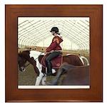 Dancing Horses Framed Tile