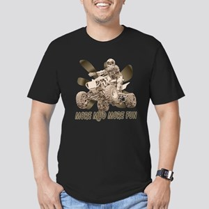 More Mud More Fun on an ATV Men's Fitted T-Shirt (