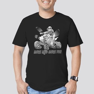 More Mud More Fun on an ATV ( Men's Fitted T-Shirt