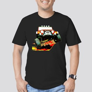 Jeep rock crawling Men's Fitted T-Shirt (dark)