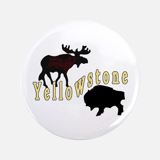 "Bison Moose Yellowstone 3.5"" Button"