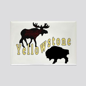 Bison Moose Yellowstone Rectangle Magnet