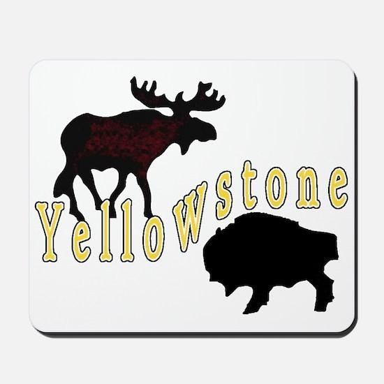 Bison Moose Yellowstone Mousepad