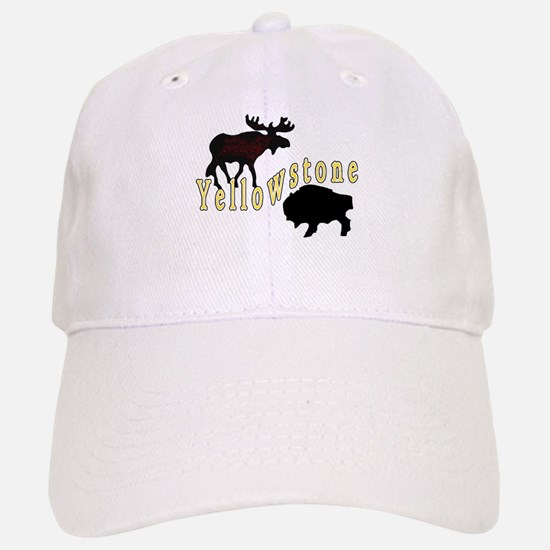 Bison Moose Yellowstone Baseball Baseball Cap