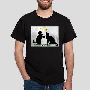 Kittens & Butterflies Dark T-Shirt