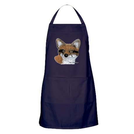 Fox Portrait Design Apron (dark)