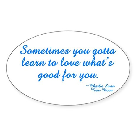 Good For You Oval Sticker (50 pk)