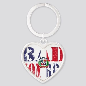 Bad Hombre Dominican and American Flag Keychains