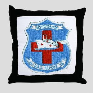USS REPOSE Throw Pillow
