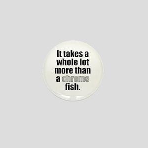 Chrome Fish Mini Button