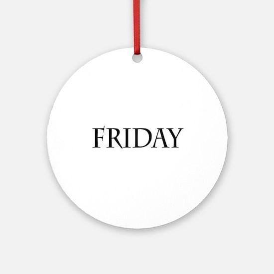 Black Friday Ornament (Round)