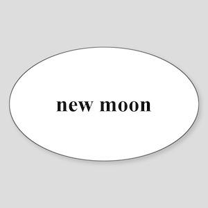 new moon Oval Sticker