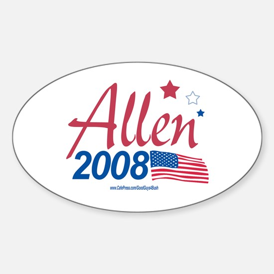 George Allen for President 20 Oval Decal