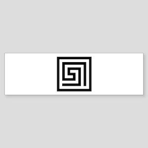 Greek Key Bumper Sticker