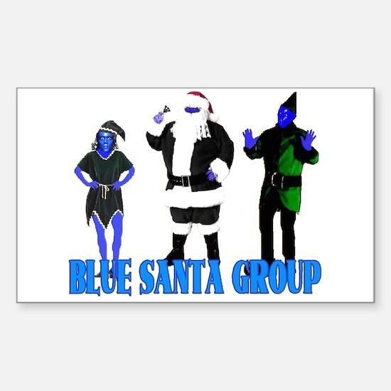 Blue Santa Group Rectangle Decal