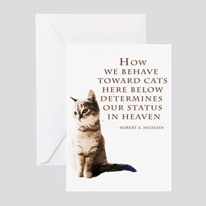 Cats and Heaven Greeting Cards (Pk of 20)