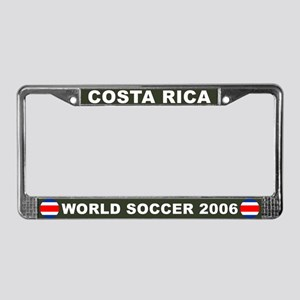 Costa Rica World Cup Soccer License Plate Frame