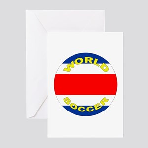 Costa Rica World Cup Soccer Greeting Cards (10 Pk